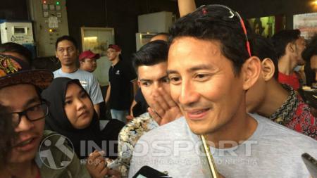 Wagub DKI, Sandiaga Uno memberikan pujian pasca mengikuti kegiatan Triathlon di Bangka Belitung. - INDOSPORT