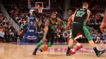 Situasi pertandingan Detroit Pistons vs Boston Celtics. - INDOSPORT