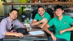 Indosport - Ilija Spasojevic dan Gabriel Budi Liminto, dan Ryuji Utomo.
