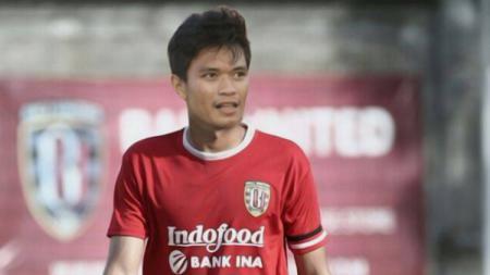 Ilustrasi Ahmad Agung Setiabudi mengenakan jersey Bali United. - INDOSPORT
