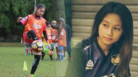 Penggawa tim sepakbola wanita Banten, Zahra Muzdalifah. - INDOSPORT