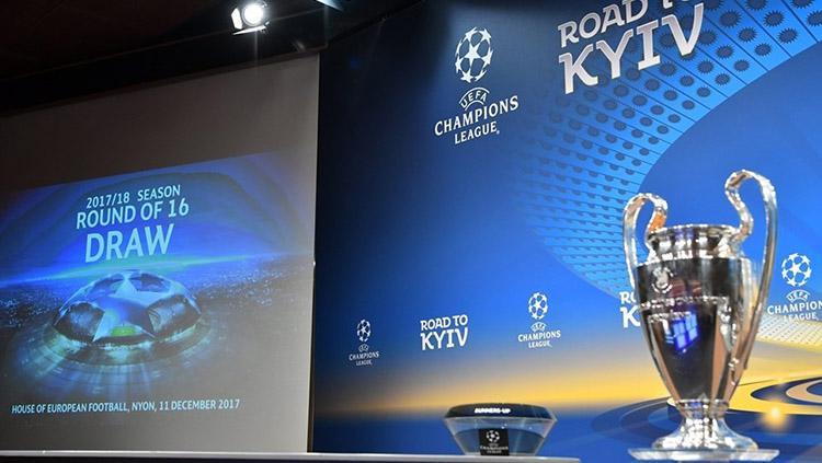 Drawing 16 besar Liga Champions. Copyright: UEFA