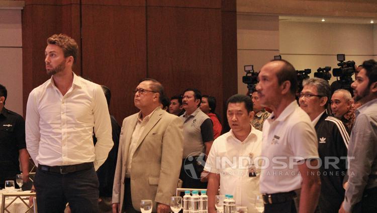 Suasana laporan akhir tahun ASIAN GAMES Copyright: Wildan Hamdani/Indosport.com