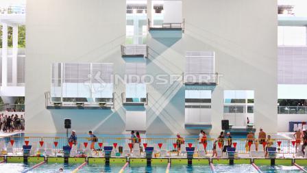 Aquatic Stadium Senayan saat menggelar test event.