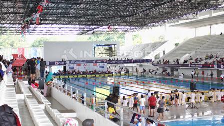 Pertandingan cabang polo air test event Asian Games.