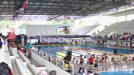 Venue akuatik saat menggelar test event Asian Games 2018 kemarin. - INDOSPORT