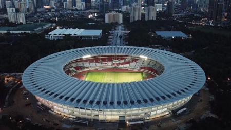 Stadion Gelora Bung Karno yang dicalonkan sebagai tuan rumah Piala Dunia 2034 menjadi sorotan media asing. - INDOSPORT