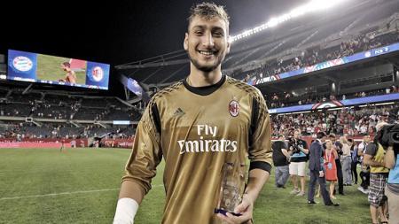 Kiper AC Milan, Gianluigi Donnarumma. - INDOSPORT