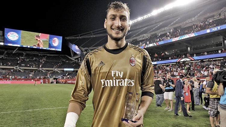 Kiper AC Milan, Gianluigi Donnarumma. Copyright: INDOSPORT