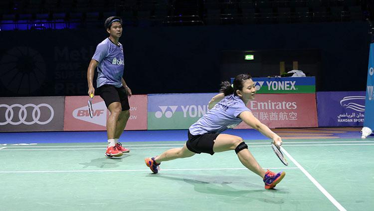 Pasangan ganda campuran Indonesia, Praveen Jordan/Debby Susanto di ajang BWF World Super Series Finals 2017. Copyright: HUMAS PBSI
