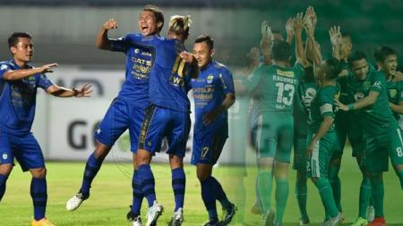 Persib Bandung vs Persebaya Surabaya. - INDOSPORT