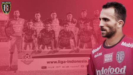 Ilija Spasojevic dan Skuat Bali United. - INDOSPORT