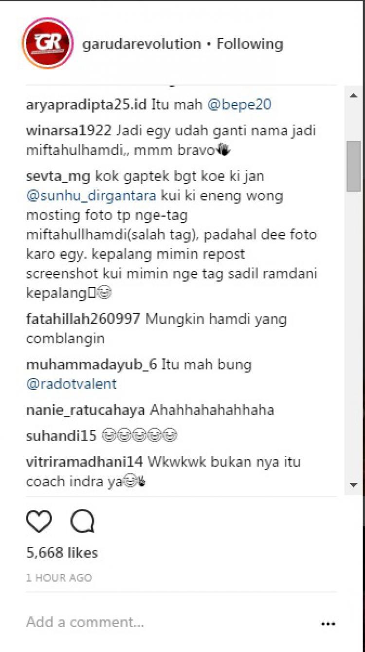 Komentar warganet Copyright: instagram