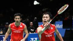 Indosport - Bukan pasangan Kevin Sanjaya/Marcus Gideon, tetapi pasangan Takeshi Kamura/Keigo Sonoda diprediksi bakal meraih medali emas di Olimpiade Tokyo tahun 2021.