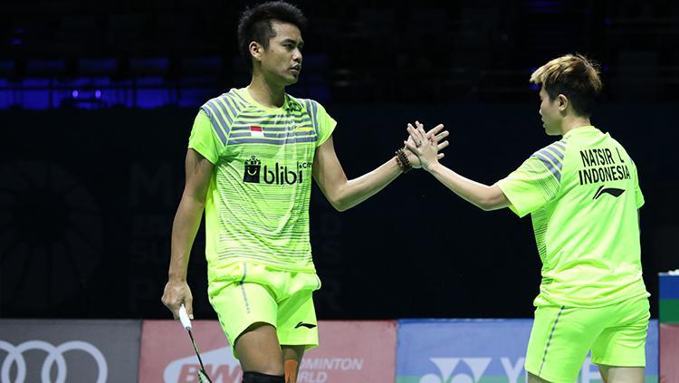 Tontowi Ahmad/Liliyana Natsir di laga kedua Dubai Super Series Finals 2017. Copyright: Humas PBSI