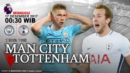 Prediksi Manchester City vs Tottenham Hotspur - INDOSPORT