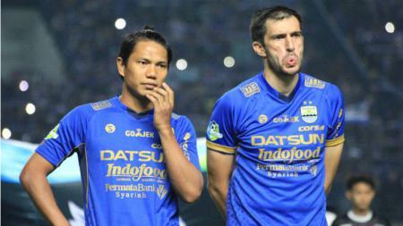 Achmad Jufriyanto dan Vladimir Vujovic Pemain Persib Bandung - INDOSPORT
