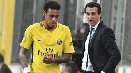 Unai Emery dan Neymar. - INDOSPORT