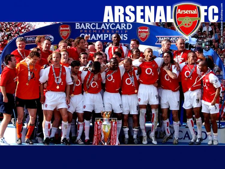 Arsenal juara Liga Inggris 2003/04 Copyright: Gooner Blogger
