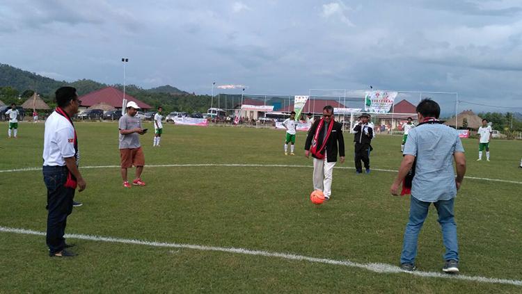 Timnas U16 Indonesia, Timnas U16 Timor Leste dan Bintang Timur Academy. Copyright: Bintang Timur Academy.