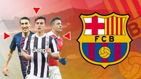 Angel di Maria, Paulo Dybala, dan Alexis Sanchez masuk dalam bidikan Barcelona. - INDOSPORT