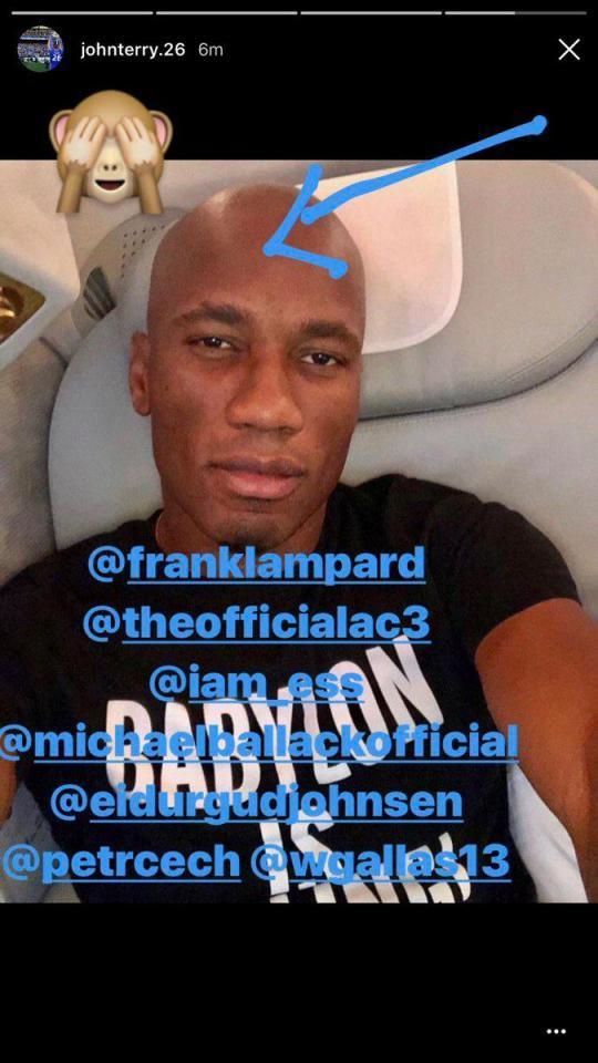 Snapgram John Terry terkait rambut baru Didier Drogba Copyright: instagram/johnterry.26