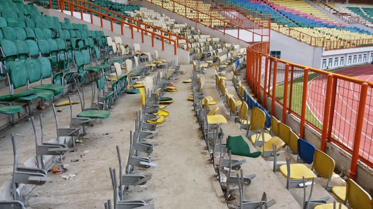 Stadion Wibawa Mukti kursi rusak Copyright: INTERNET