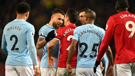 Duel Derby Manchester antara, Manchester United vs Manchester City. - INDOSPORT