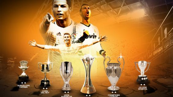 Cristiano Ronaldo  trophy Copyright: Grafis:Yanto/Indosport.com