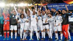 Indosport - Real Madrid saat menjuarai Piala Dunia Antarklub 2017.
