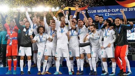 Real Madrid saat menjuarai Piala Dunia Antarklub 2017. - INDOSPORT