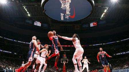 Situasi pertandingan Cleveland Cavaliers vs Washington Wizards. - INDOSPORT