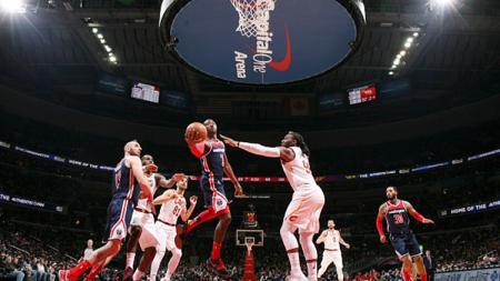 Situasi pertandingan Cleveland Cavaliers vs Washington Wizards. - INDOSPORT