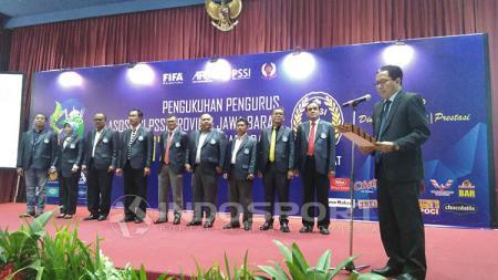 Pengukuhan pengurus Asprov PSSI Jawa Barat periode 2017-2021 - INDOSPORT