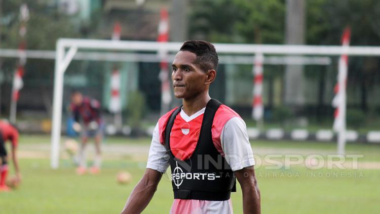 Abduh Lestaluhu sudah mengikuti latihan. Copyright: Wildan Hamdani/Indosport.com