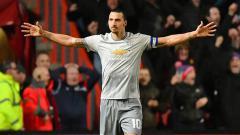 Indosport - Selebrasi Zlatan Ibrahimovic setelah berhasil membobol gawang Bristol pada menit ke-58'.