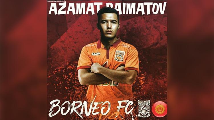 Kapten Timnas Kyrgyzstan, Azamat Baimatov, resmi ke Borneo FC. Copyright: Instagram Pengamat Sepakbola