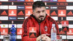 Indosport - Pelatih AC Milan, Gennaro Gattuso saat diwawancara usai laga AC Milan vs Lazio.