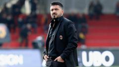 Indosport - Gennaro Gattuso, saat melatih AC Milan