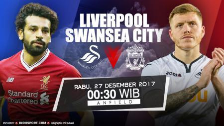 Prediksi Liverpool vs Swansea City. - INDOSPORT