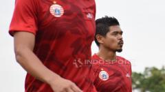 Indosport - Bambang Pamungkas dalam latihan Persija Jakarta.