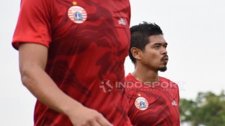 Bambang Pamungkas dalam latihan Persija Jakarta. - INDOSPORT