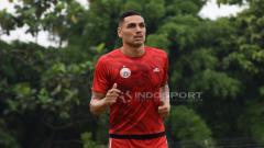 Indosport - Pemain asal Brasil, Jaimerson da Silva Xavier dalam latihan Persija Jakarta.
