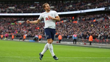 Harry Kane memecahkan rekor gol Liga Primer Inggris dalam satu tahun kalender. - INDOSPORT