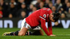 Indosport - Zlatan Ibrahimovic di laga melawan Burnley.