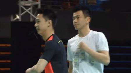 Kevin Sanjaya Sukamuljo dan Zheng Siwei. - INDOSPORT