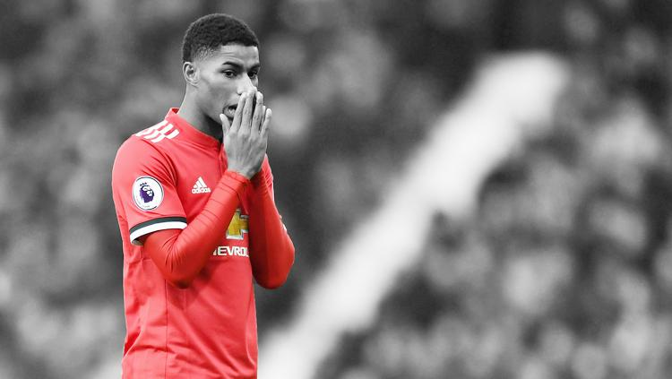 Striker Man United, Marcus Rashford. Copyright: Grafis: Eli Suhaeli/INDOSPORT