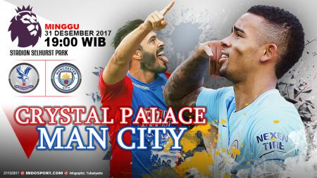 Prediksi Crystal Palace vs Manchester City - INDOSPORT