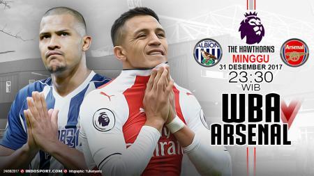 Prediksi West Bromwich Albion vs Arsenal - INDOSPORT