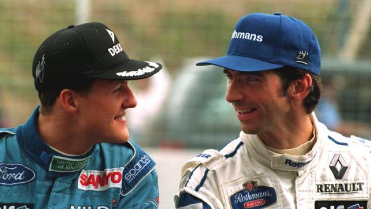 Schumacher dan Damon Hill. Copyright: -